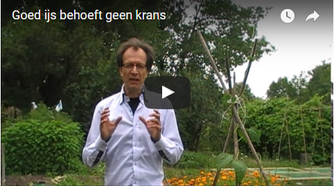 goed ijs behoeft geen krans, goed product basis voor je marketing, video