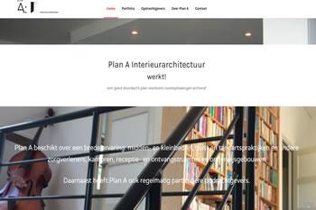 Plan A Interieurarchitectuur, website