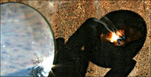 vergrootglas branden
